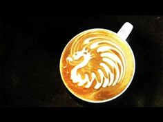 learn how to do latte art-- sure make it look so easy lol