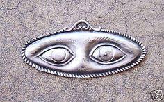 Large-Tin-Silver-Eyes-Milagro-Ex-Voto