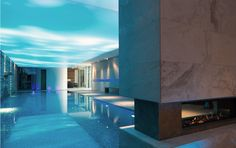 Private spa designed by studio a. Spa Design, Ash, Villa, Wellness, Mansions, Studio, House Styles, Beauty, Home Decor