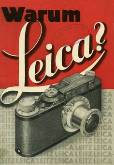 Why Leica? Salesfolder cover, Leica II (D), Via Technoseum Old Cameras, Vintage Cameras, Vintage Ads, Vintage Posters, Vintage Photos, History Of Photography, Photography Camera, Underwater Photography, Vintage Photography
