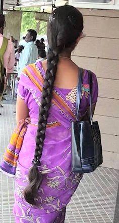 Long silky braid | indian braided hair | Flickr Easy Hairstyles For Long Hair, Indian Hairstyles, Braided Hairstyles, Blonde Hair Black Girls, Hair Girls, Hair Buns, Braid Hair, Beautiful Braids, Beautiful Long Hair