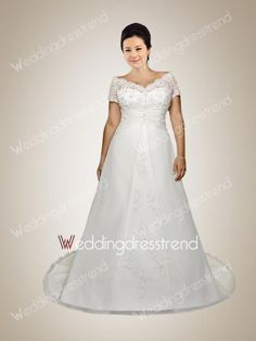 Stunning Cheap Vintage Off the Shoulder Embroidery Plus Size Wedding Dress the Best Wedding