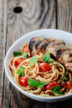 Blackened Chicken and Spaghetti Dinner Recipe with Tomato-Basil Wine Sauce