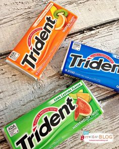 Trident gum is the name of a gum manufacturer, which it is also the name of Poseidon's trident/staff that he carries around with him. Like gum in bags, pockets, and purses.