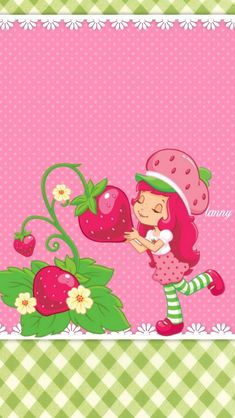 Frutilla Strawberry Shortcake Pictures, Decoupage, Hello Kitty Wallpaper, Borders For Paper, Kanzashi Flowers, Mlp My Little Pony, Pink Love, Painting For Kids, Girl Cartoon