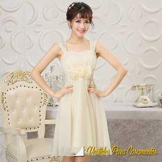 Vestido de Madrinha Curto em 4 Cores