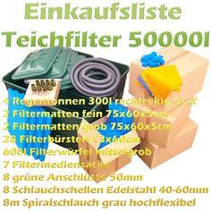Teichfilter Aufbau und Filtermedien Reihenfolge   Teichfilter Filters, Rain Water Collector, Sketches, Tutorials