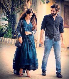 hamza Ali abbasi and sajal ali Pakistani Girls Pic, Pakistani Party Wear, Pakistani Dress Design, Pakistani Outfits, Indian Outfits, Indian Designer Outfits, Designer Dresses, Kurta Designs, Dress Cuts