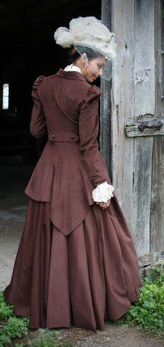 Neo Victorian reproduction fashion: Riding Habit, Quinn Riding Suit