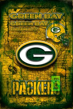 Green Bay Packers Wall Art green bay packers art vintage wood wall art | green, vintage wood