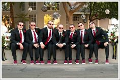 haha, that's a cute wedding photo for the groomsmen.