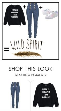 """""""Wild spirit"""" by lbiatch0105 ❤ liked on Polyvore featuring Balmain and adidas Originals"""