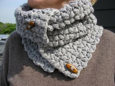 Handmade crochet Neck Warmer Cowl Shoulder by JoFiberscreation