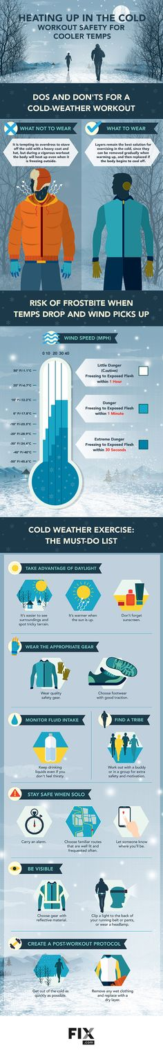 Heating Up in the Cold: Workout Safety For Cooler Temps #infographic