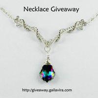 Sterling Silver and Swarovski Crystal Necklace by sylva