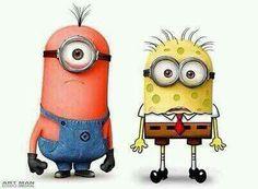 Spongebob & Patrick minions hahs