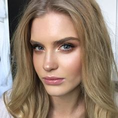 Love the inner corner light shadow and dewy glam! Try new RMS Swift Shadows