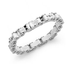 IceLink White Bicycle Link Standard Bracelet - IceLink Watches & Jewelry