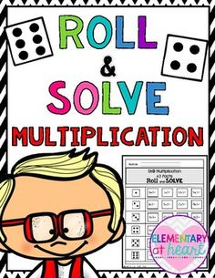 Great for basic multiplication math facts!Fun for math centers too!Just PRINT and use DICE!Your kiddos will love this!Included:-0, x1 facts- x2 facts- x3 facts- x4 facts- x5 facts- x6 facts- x7 facts- x8 facts- x9 facts- x10 facts Looking for MORE Products for Upper Elementary?Check out the All About Me Cell Phone Flip Book 3-6Click here for Figurative Language Posters by Elementary at HEARTClick here for Parts of Speech Posters by Elementary at HEARTClick here for Classroom Reward Coupons…