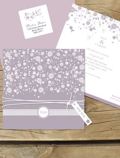 falling into spring - Lilykiss wedding invitations.