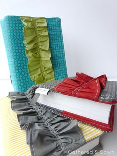 ruffle scripture book cover -- so cute!