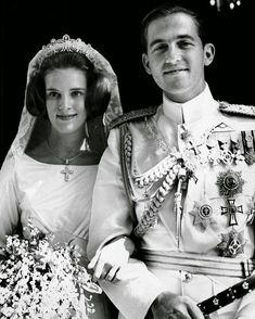 Griego Foto Antigua años 1964-1973 Anna-Marie Queen of the Hellenes Grecia