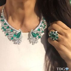 SPECTACULAR SUTRA!!!!! @sutrajewels diamond and Emerald necklace and ring..... Why I am not wearing this spectacular jewels right now???? Love love love them!!! 💚💚💚💚💚💚💚💚💚💚💚💚💚💚💚💚