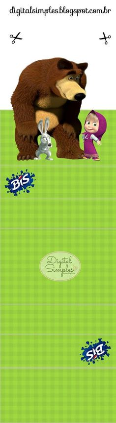 Convites Digitais Simples: Kit Festa Aniversário Masha e o Urso