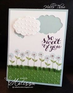 Stampin' Up! Hello There by Melissa Davies @rubberfunatics  #rubberfunatics #stampinup