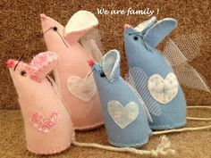 Felt Mice Small or Large. Various Colours - The Supermums Craft Fair