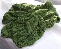 Twisted Vine Knit Neckwarmer PDF Pattern - Great fun to knit and wear. 4.50, via Etsy.