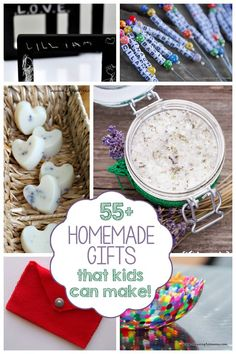 55  Homemade Gifts Kids Can Make - I love this list because kids can ACTUALLY make or help make all of these!