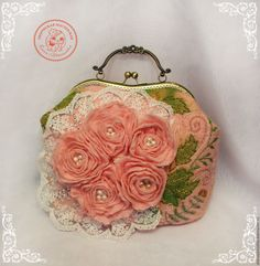 Купить Сумка Дороти 2 валяная из шерсти - розовый, цветочный, сумка валяная