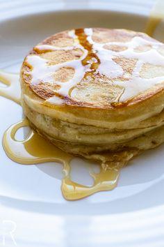 Vegan Mini Coconut Pancake Stacks with Apple Syrup | Vegan Miam