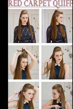 How to do a red carpet quiff