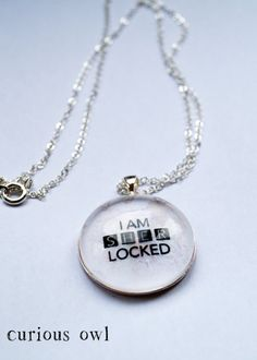 I am Sherlocked  Sherlock Fandom Necklace by CuriousOwlDesign, £9.99