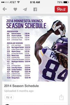 2014 Vikings Schedule