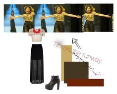 """""""Martina Stoessel Outfit"""" by violetta-forever ❤ liked on Polyvore featuring Topshop, Mela Loves London, Kenneth Jay Lane and Jeffrey Campbell"""