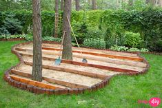 If you are looking for the best garden design, you have come to the right place. Backyard Patio Designs, Small Backyard Landscaping, Landscaping Ideas, Deck Around Trees, Outdoor Patio Bar, Wooden Terrace, Forest Garden, Garden Paths, Backyard Playground