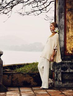 Photographed by Joel Rhodin featuring model Josefine Ekman Nilsson for Elle Sweden July 2011.