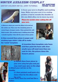 winter soldier arm tutorial  thank Cas this is such a great tutorial