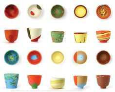 10 cups by Sally Marsland Edition for Galerie so, 2005 polyurethan - Copyright Julian Hutchens