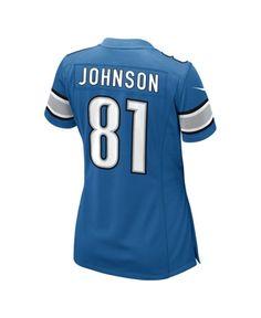 nfl Detroit Lions Isaiah Johnson GAME Jerseys