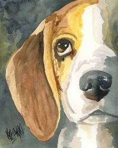 The best piece of artwork ever... I must get this. Looks like my girl when she was a pup <3