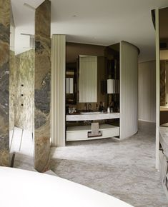 Yabu, Opus Hong Kong Interior Concept, Interior Design, Yabu Pushelberg, Hospitality Design, Amazing Bathrooms, Dining Room Table, Decoration, Modern, House