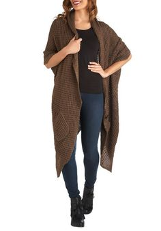 Blanket Statement Cardigan in Cocoa, #ModCloth