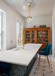 Bluegrass Subway Tile Modern Kitchen