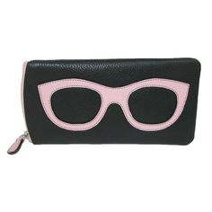 These adorable glasses cases are perfect for sunglasses, eyeglasses, or readers. Its spacious interior gives your glasses enough room to sit securely inside without being crushed. The back pocket can be used to carry a cleaning cloth, cards or money if on the go.