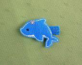 Destiny the Dolphin Clippie, Blue Dolphin Hair Clip