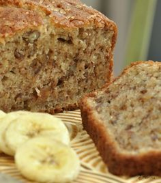 gluten free banana bread. The muffins with the extra batter didn't quite look like this. It is spongy, airy and yummy.